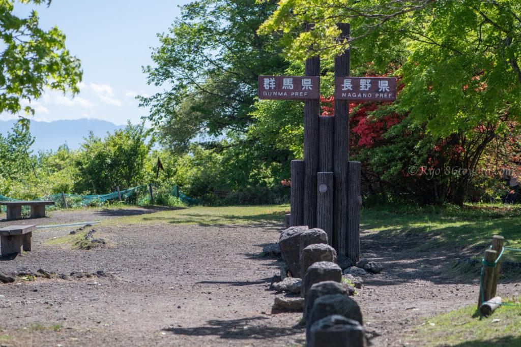 軽井沢 見晴台 ドライブ 紅葉 種